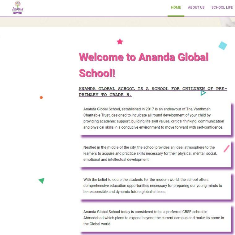 Ananda Global School - Starland IT Solution