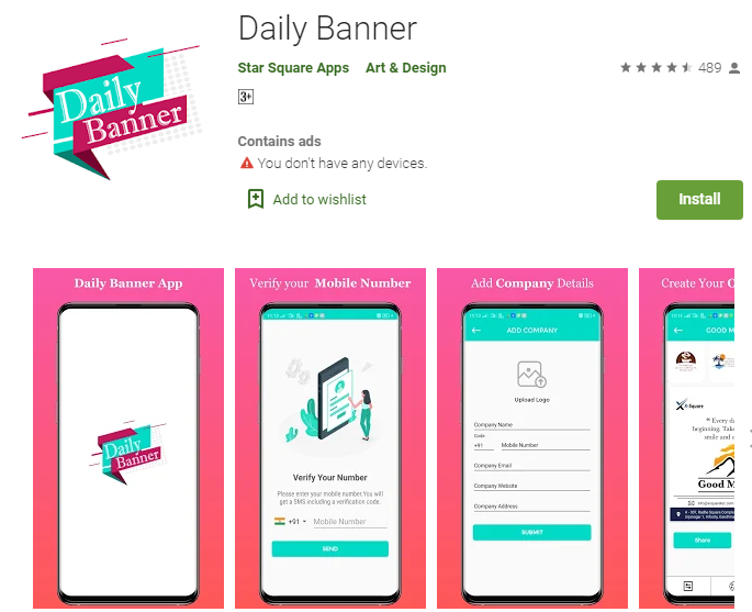 Daily Banner App - Starland IT Solution