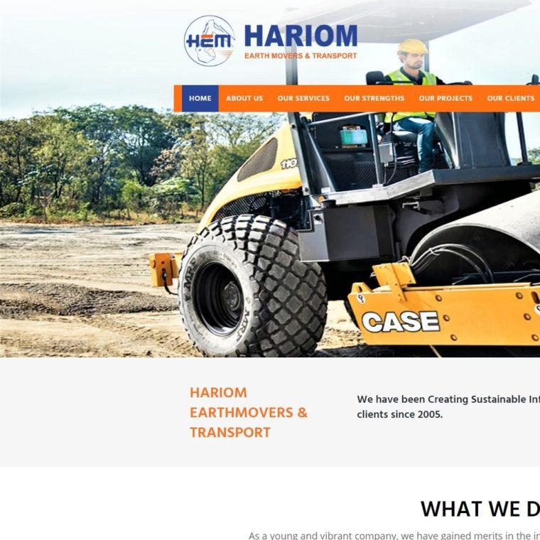 HARIOM Earthmovers & Transport - Starland IT Solution
