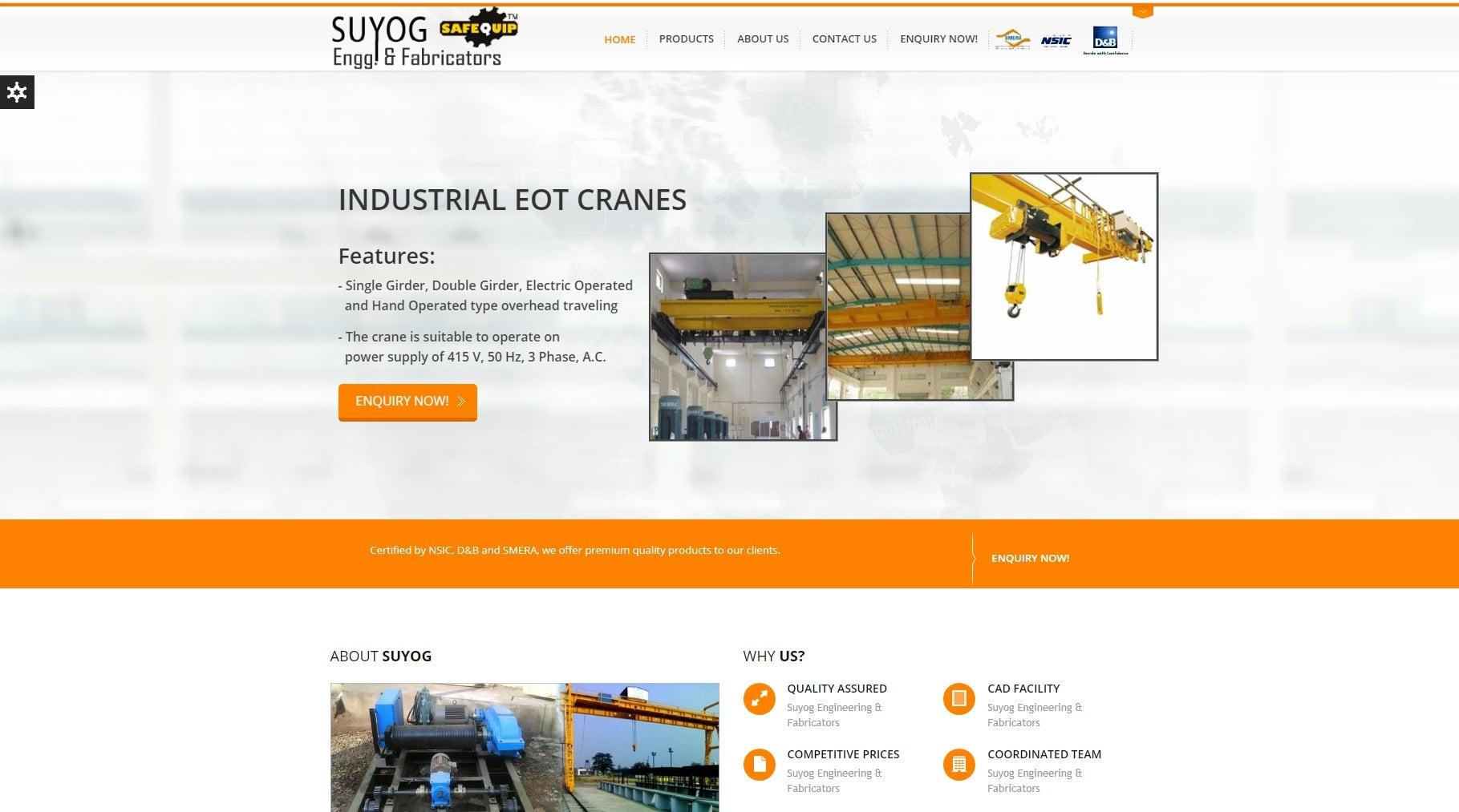 Suyog Engineering & Fabricators - Starland IT Solution